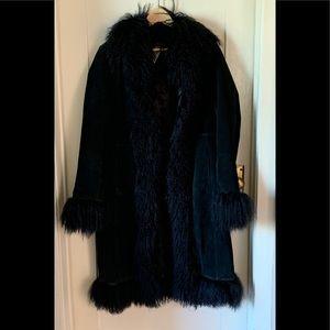 Vintage Black suede Marvin Richards coat